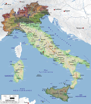 Regions on Carte Italie R  Gions